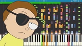 IMPOSSIBLE REMIX - Evil Morty Theme - For The Damaged Coda - Piano Cover - Blonde Redhead