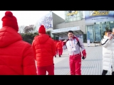 Приезд нашей команды на игру против сборной Южной Кореи