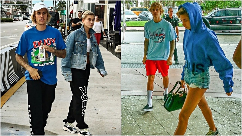 Justin Bieber spotted out with Hailey Baldwin in Miami. (June 11, 2018)