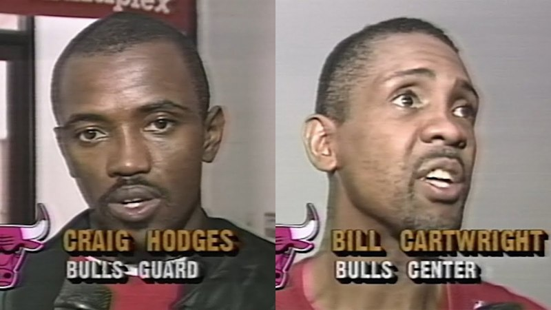 Bill Cartwright Craig Hodges Recovering from Injuries (1991.12.14)