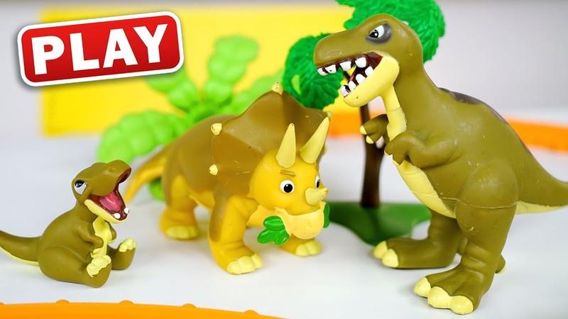 КУКУТИКИ PLAY Мир Динозавров Играем с Анной и Марусей