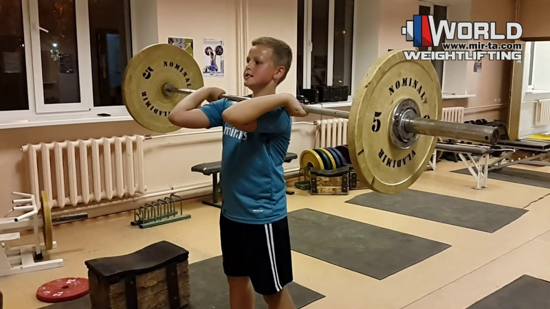 ВИНОГРАДОВ Макар (2007) Толчок 27 кг. В стойку. Есть Рекорд! 05.10.2018