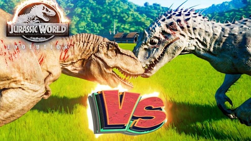 Ти РЕКС VS ИНДОМИНУС РЕКС Схватки Динозавров Jurassic World EVOLUTION 1