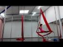 Aerial silk. связка на полотне для группы. Воздушные полотна.