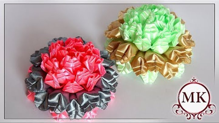 Цветы из лент. Лепесток Ёлочка. Канзаши. МК. / DIY. Ribbon flowers. New petal. Kanzashi.