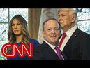 Sean Spicer helps reveal Melania wax figure