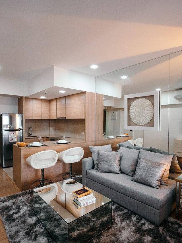 Интерьер квартиры-студии 45 м.