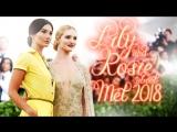 Lily Aldridge and Rosie Huntington-Whiteley on Met Gala 2018 (RUS SUB)