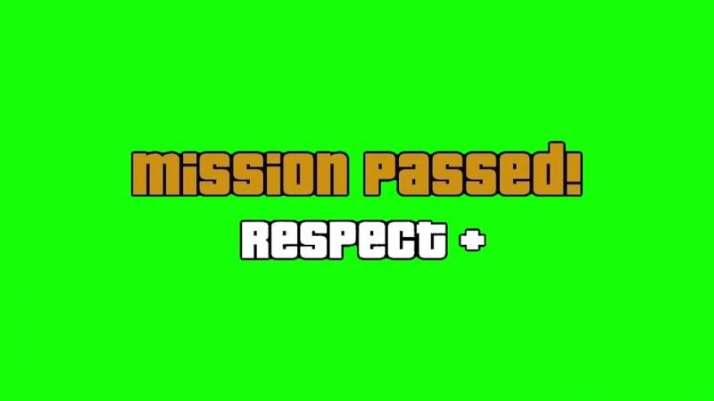 V МИСИЯ ВЫПОЛНЕНА MISSION PASSED НА ЗЕЛЁНОМ ФОНЕ mp4