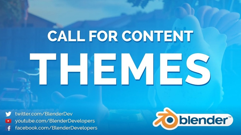 Call for Content: THEMES! - Blender 2.80