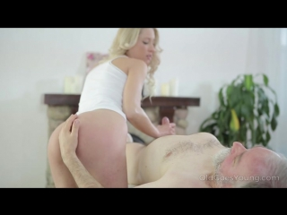 [OldGoesYoung] Polina - Sexy blondie relaxes her old teacher with massage and blowjob (08.12.2017) rq