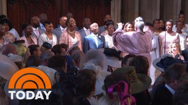 Королевская свадьба: «Останься со мной», исполненную Кареном Гибсоном и хором Королевства   CЕГОДНЯ