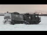 Первое занятие по вождению новых снегоболотоходов «Алеут» с механиками-водителями Северного флота
