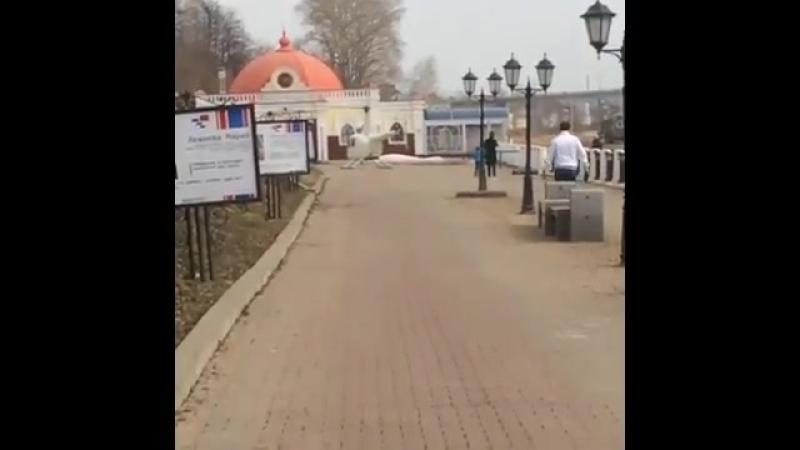 В Костроме экс-депутат прилетел на вертолете обедать в ресторан