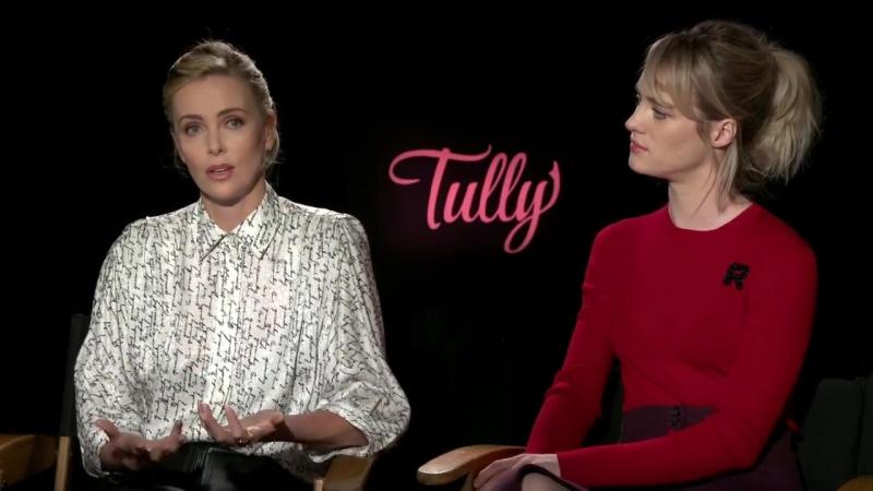 Charlize Theron Mackenzi Davis Tully Full Interview