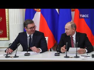 Путин заявил о возможности подключения Сербии к 'Турецкому потоку'
