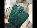 Green Crocodile Skin Hard Case