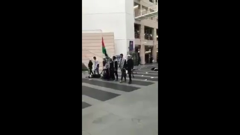 Students of University of Geneva protested Israel in a very unique way.