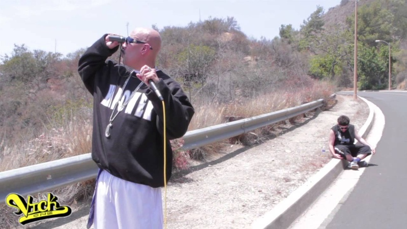 DJ Vick One gets fitness training from Mr. Capone- E