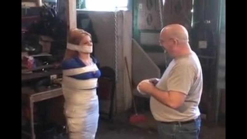 White duct tape mummy