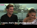 Zac Efron and Zendaya on filming The Greatest Showman - YouTube