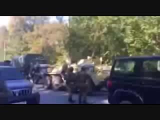 Взрыв в Керчи. Видео. БТР на месте теракта в колледже