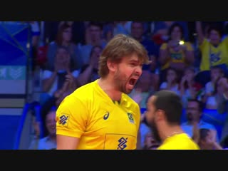 Лукас Сааткамп (#16) RUSSIA vs BRAZILIA FIVB Mens World Championship 2018