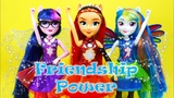 Friendship Power Transform Sunset Shimmer Twilight Sparkle Rainbow Dash Doll Play Review