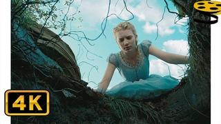 Алиса падает в Кроличью Нору. Погоня за Кроликом | Алиса в стране чудес (2010) | HD