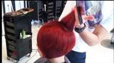 Kenneth Siu's Haircut - Hot Red Bob