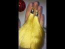 Желтые кисти с застежкой гвоздиком из циркония
