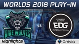 DW vs EDG Highlights Worlds 2018 Play In Dire Wolves vs Edward Gaming by Onivia