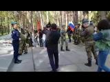 Сегодня 9-го мая, члены Московского и Рязанского отделений мотоклуба Ночные волки, совместно с курсантами и офицерами  Рязанског
