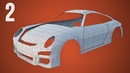 CGC Classic Modeling a Porsche Pt 2 Doors and Roof Blender 2 4