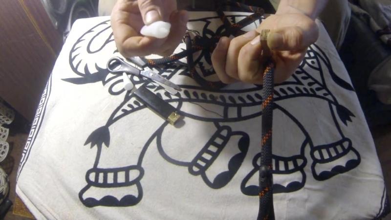 Как сделать поводок удавку, контроллер, ринговку - How to make a leash, halter
