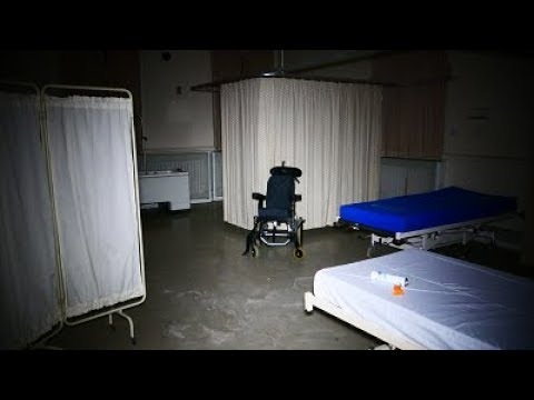 Abandoned hospital Surrey. Equipment still left behind.