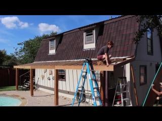 Строительство навеса к дому своими руками