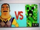 MINECRAFT VS HELLO NEIGHBOR СУПЕР РЭП БИТВА Майнкрафт Крипер ПРОТИВ Привет Сосед Игра VIDEOMEG R