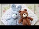 Амигуруми: схема мини Мишки и Зайки. Игрушки вязаные крючком - Free crochet patterns.