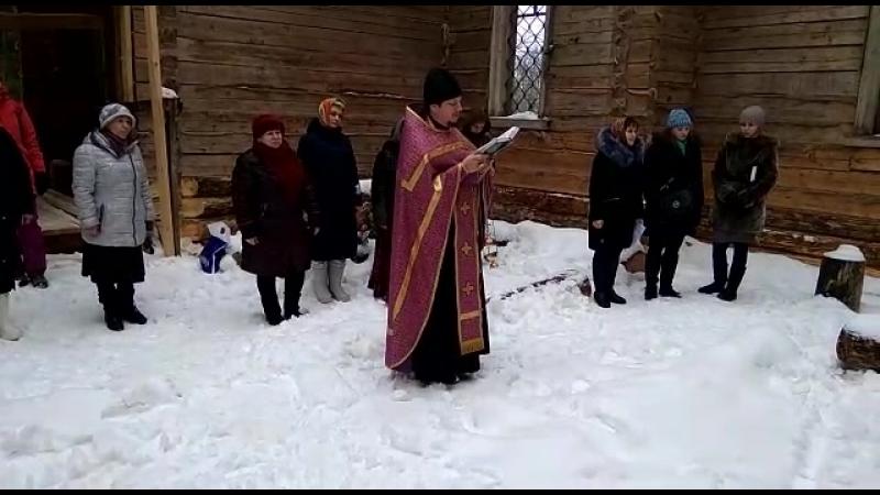 Мандроги 25.03.18 молебен в храме пророка Елисея...