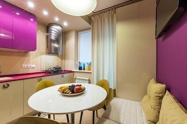 Красивая и функциональная кухня, несмотря на небольшую площадь (8,5 кв.