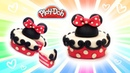 Dolls Food . Minnie Mouse Cute Cake. Play Doh for Kids and Beginners. DIY Video for Kids