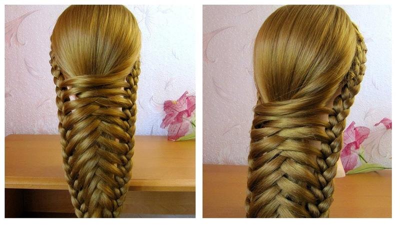 Belle coiffure facile à faire cheveux mi long long 🌹 tresse originale et simple