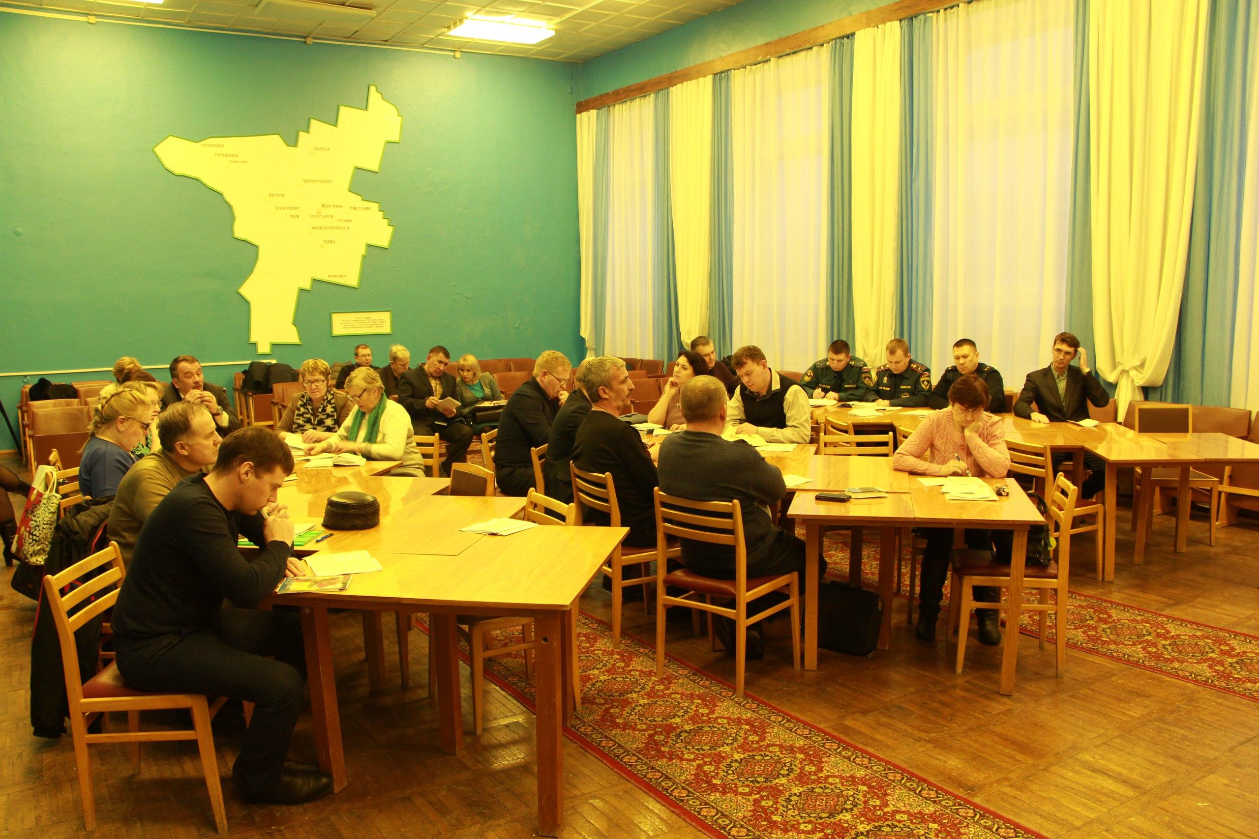 Расширенное заседание комиссии по предупреждению и ликвидации чрезвычайных ситуаций и обеспечению пожарной безопасности. Удорский район