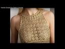 DIY CROCHET PONTO VESTIDO DOURADO EVA- A PEDIDO na descrição tem o vestido ( PAP)