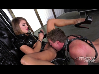 Adriana chechik - oral fuck slave [ 2018, femdom, humiliation, high heels, brunette, pussy worship, queening, oral, anal play ]