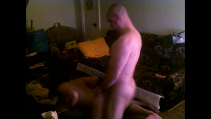 Bald guy meets wife rubber pussy