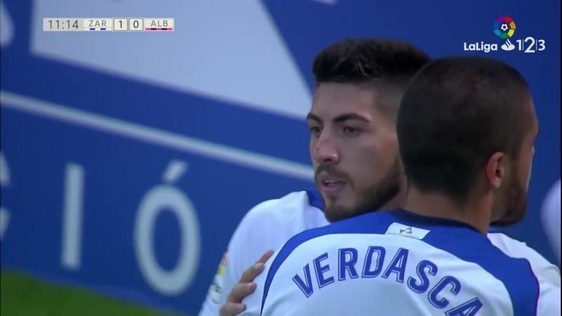 Реал Сарагоса - Альбасете Баломпье, 1-0, гол Георгия Папунашвили, голевая Борхи Иглесиаса