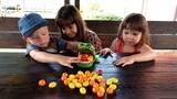 Ангелина с братом и сестрой ИГРАЮТ в веселую игру КРОКОДИЛ ДАНТИСТ Видео для детей