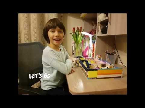 Юля Шестакова 8 лет Конкурс LEGO проектов Город будущего Школа моей мечты